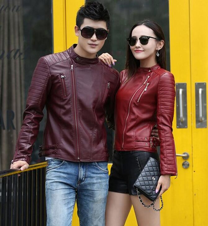 Men's leather clothing outerwear Spring motorcycle leather jacket men leather