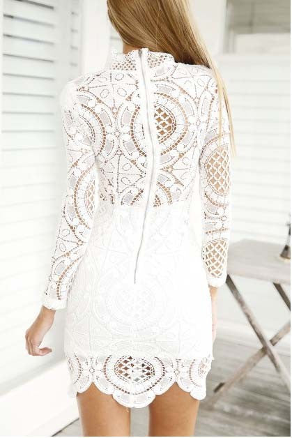 Boho Chic Bohemian Little White Lace Dress - Hippie BLiss