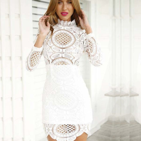 Boho Chic Bohemian Little White Lace Dress