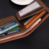 Black Leather Men Wallets Purse Card Holder - Hippie BLiss