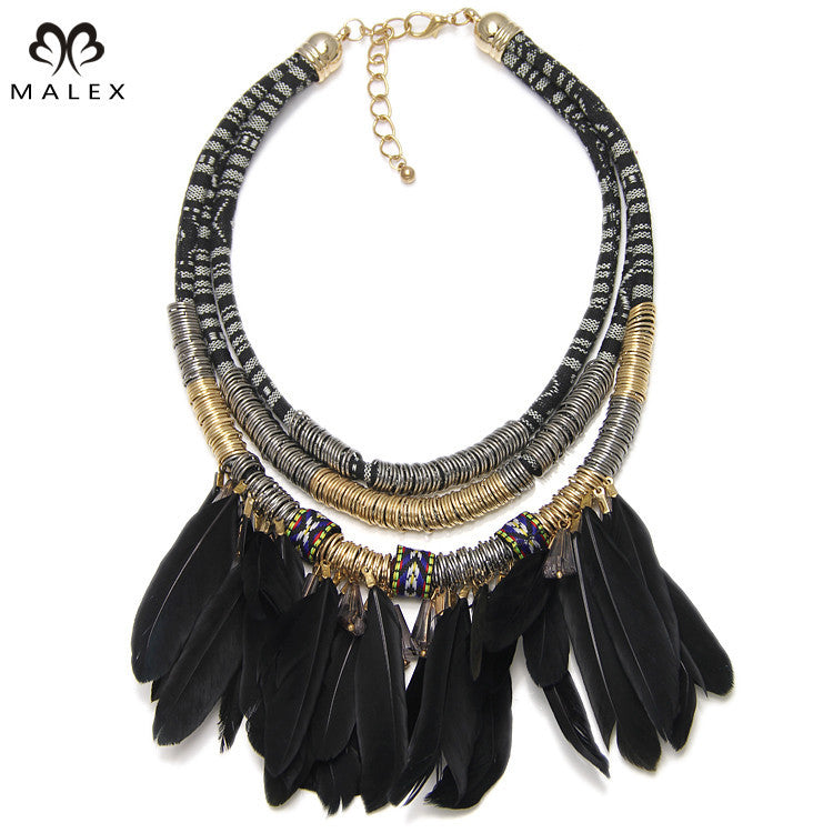 Free Tribal Exaggerated Feather Necklace - Just Pay For Shipping - Hippie BLiss