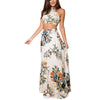 Floral Backless Beach long Crop top skirt set Two Piece - Hippie BLiss