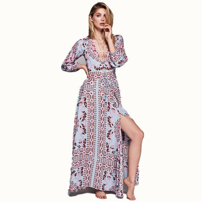 Long Sleeves Boho Dress Maxi Dresses - Hippie BLiss