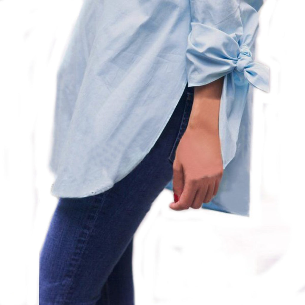 Off Shoulder Blouse Shirt Bow-knot Long Sleeve Tops