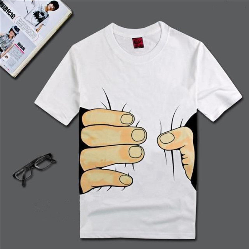 Men 3D T Shirt Short Sleeve Cotton T-shirt - Hippie BLiss