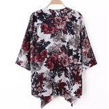 Boho Cardigan Floral Printed Shawl Blouse Top - Hippie BLiss