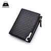 Man Wallets Mens PU Leather Zipper Business Wallet Card Holder Pocket - Hippie BLiss