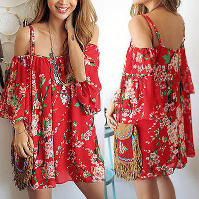 BOHO Casual Sleeveless Party Evening Short Mini Dress - Hippie BLiss
