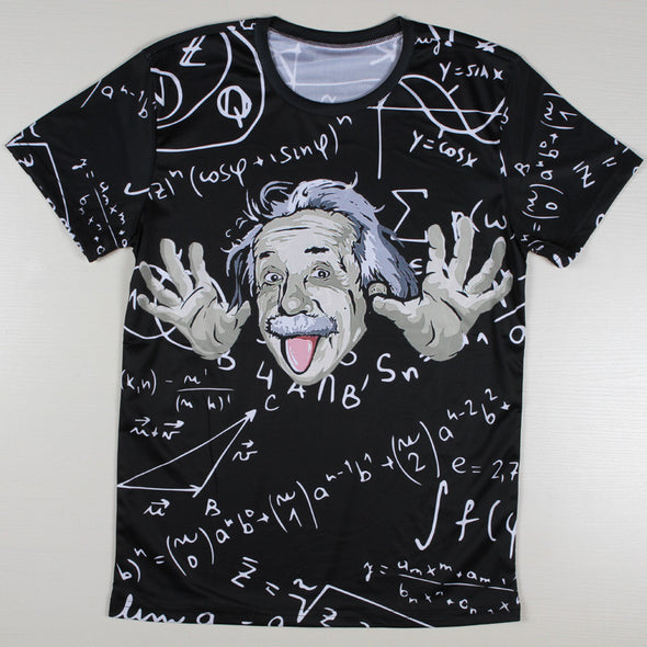 Physicist Albert Einstein 3d t shirts Short Sleeve