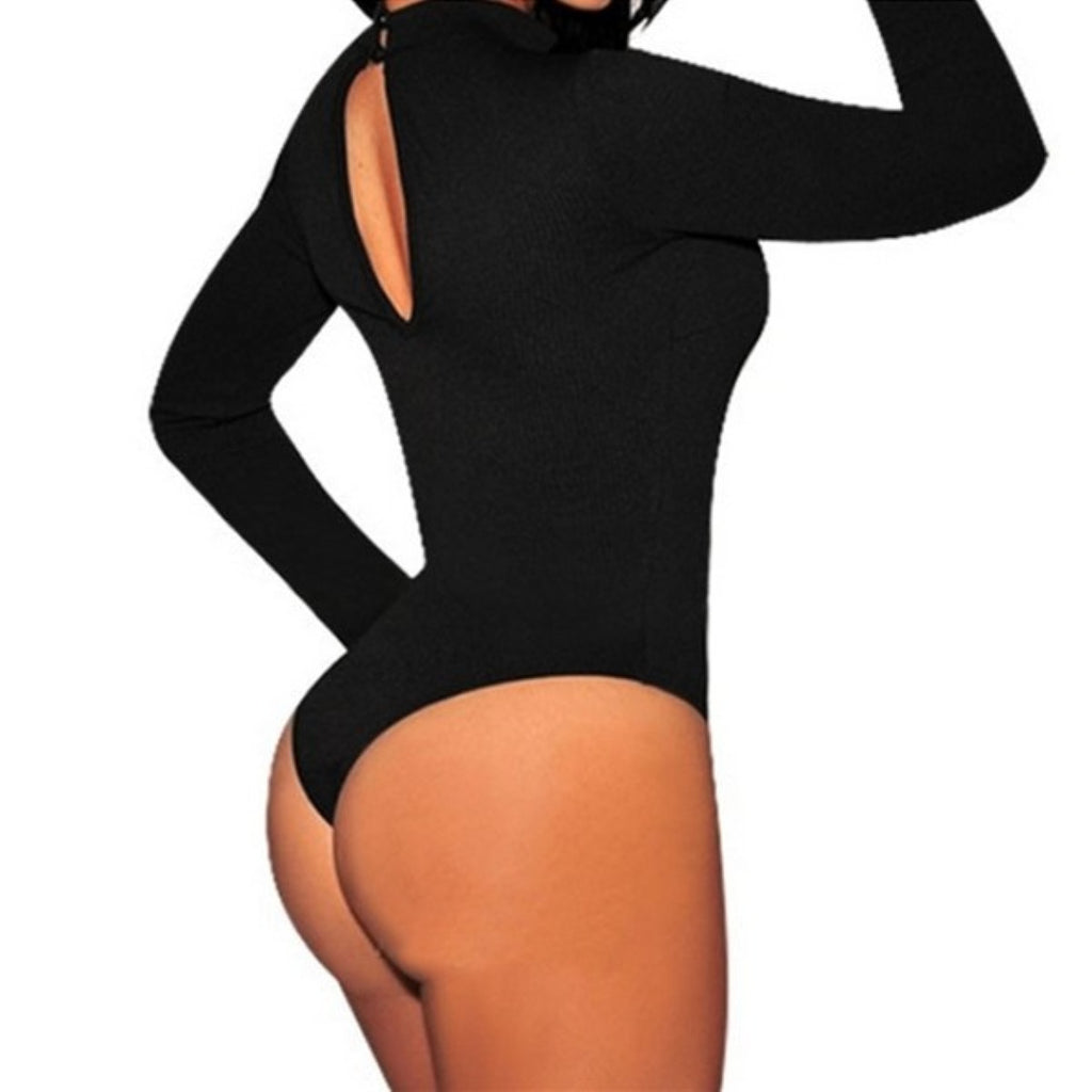 Black High Neck Bodysuit - Hippie BLiss