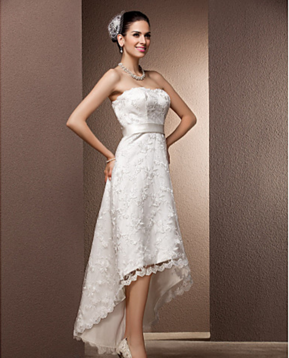 Lanting bride a line princess petite plus sizes for Wedding dresses petite sizes
