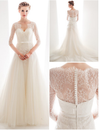 BOHO LONG SLEEVE WEDDING LACE DRESS SWEETHEART NECKLINE A LINE - PLUS SIZE - Hippie BLiss