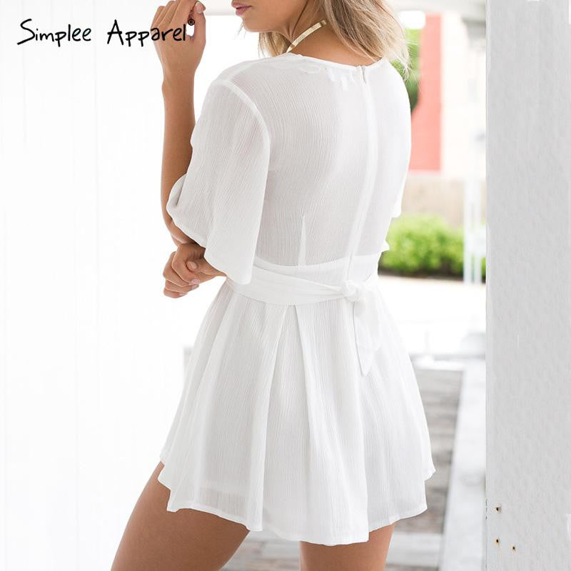 c46a4f46e54 black and white striped jumpsuit romper women V neck - Hippie BLiss. Show  Gallery