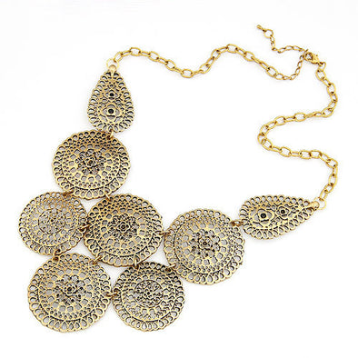 Gold Statement Necklace - Hippie BLiss