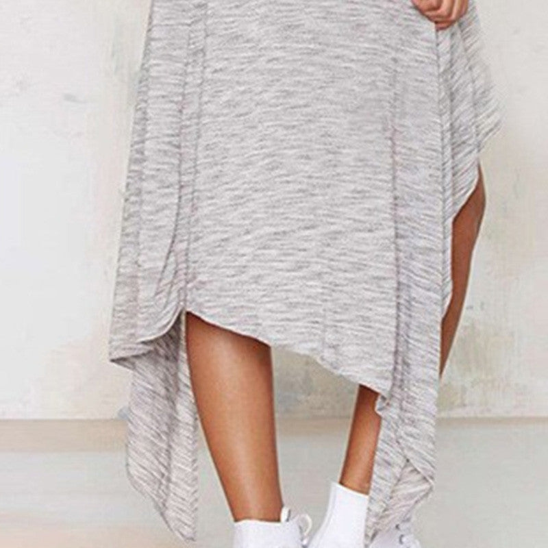 Women Style High Street Grey Asymmetric Casual Loose Dresses