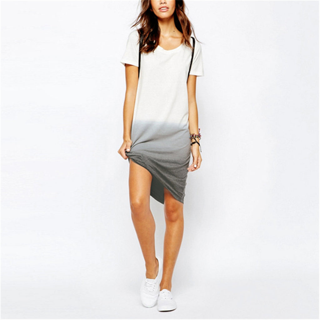 Ombre T Shirt Dress White T Shirt Dress