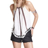 Boho Chic High Neck Linen Top - Hippie BLiss