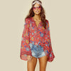 RED Boho blouse Bohemian Tops - Hippie BLiss