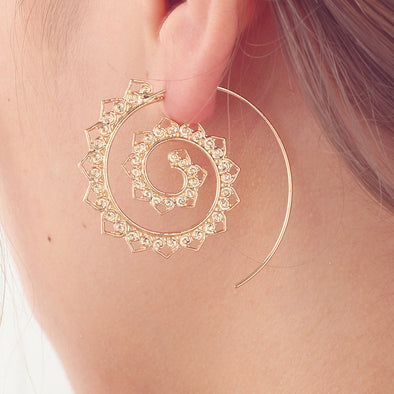 Swirl Hoop Gypsy Earrings