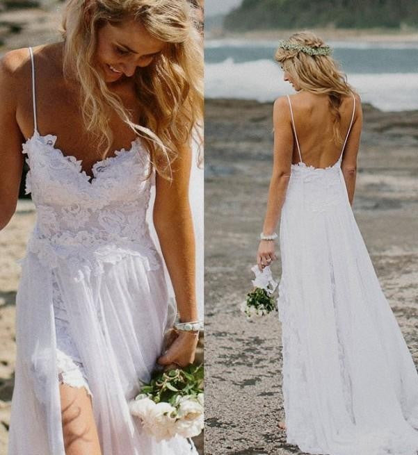 Boho Lace Wedding Dress Bohemian Wedding Boho Bridesmaids Dress ...