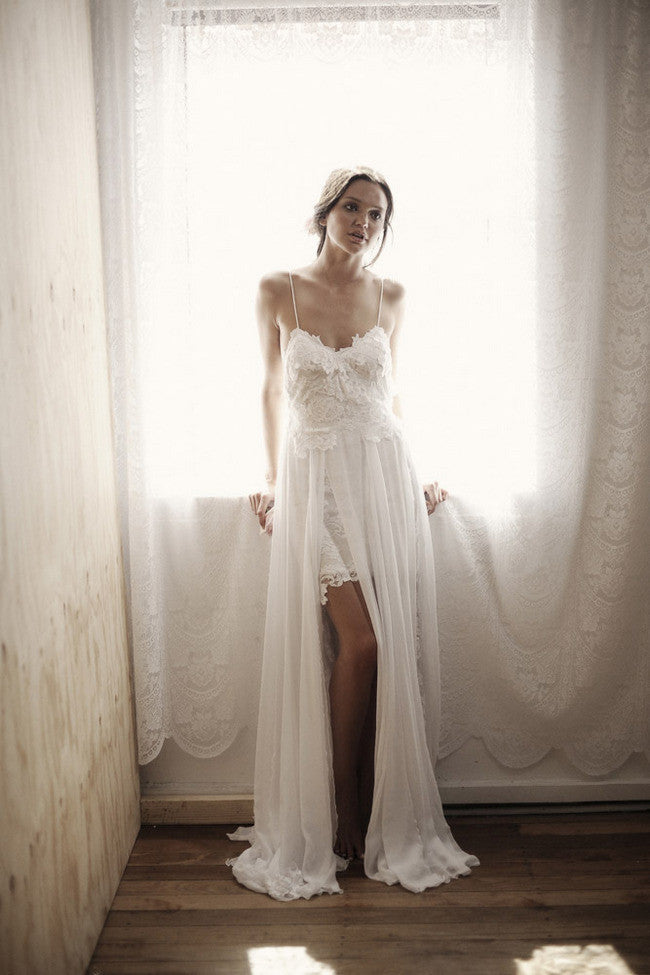Boho lace wedding dress bohemian wedding boho bridesmaids for Cheap boho wedding dresses