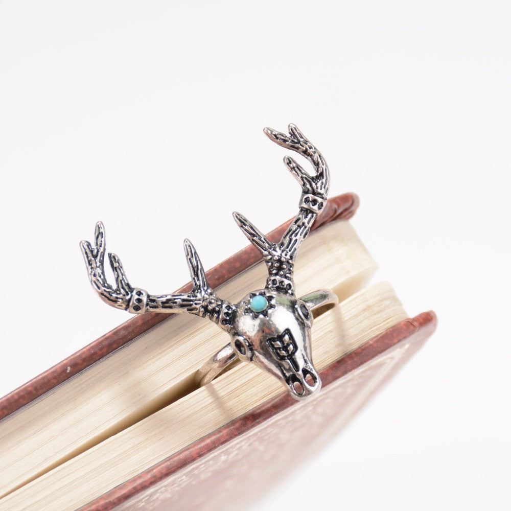 Bohemian BOHO Ring Turquoise Deer - Hippie BLiss