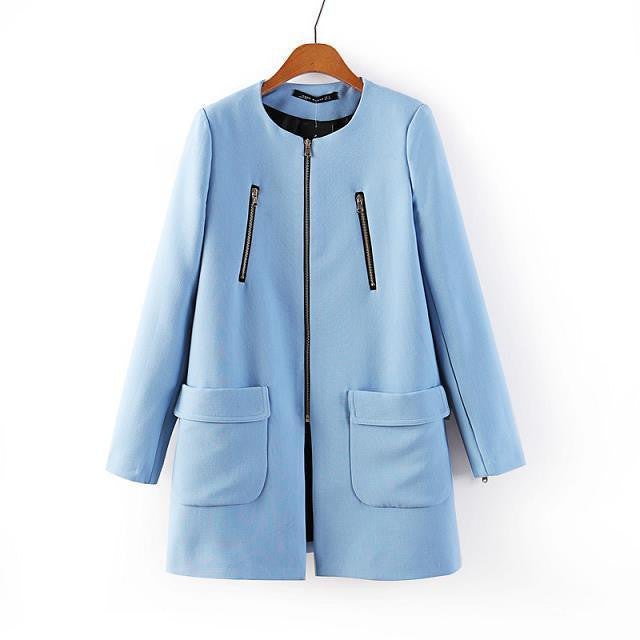 Light Blue Wool Coat - Hippie BLiss