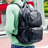Brand leather men backpack - Hippie BLiss