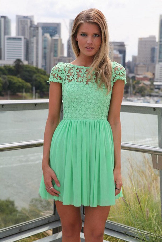 Summer Lace Dress Crochet Embroidered Pleated Tulle Chiffon Lace Backless Party Club Dresses