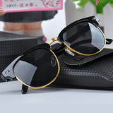 Women Black and Gold Wayfarer Sunglasses