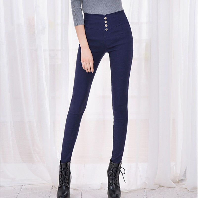 Women's High Waist Skinny Slim Denim Jeans Trouser Long Pencil Pant Stretchy