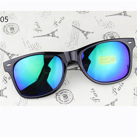 Vintage Sunglasses Women Wayfarer Reflective Sunglasses