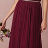 V Neck Beaded Sexy Wine Red Bridesmaid Dress Floor Length Custom Made Maid of Honor Dresses