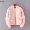 Baby Pink Quilt Bomber Jacket Women Outerwear - Hippie BLiss