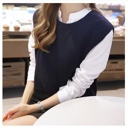 Sweater Vest Open Back Sleeveless