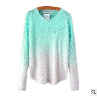 Ombre Sweater Blue and White Fussy Sweater