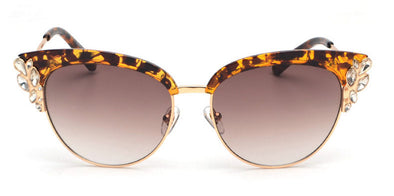 Cat Eye Flower Jewel Sunglass - Hippie BLiss