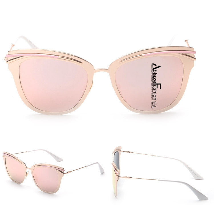 Gold Aviator Cat Eye Sunglasses - Hippie BLiss