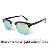 Half Metal Black and Gold Aviator Sunglasses Unisex - Hippie BLiss