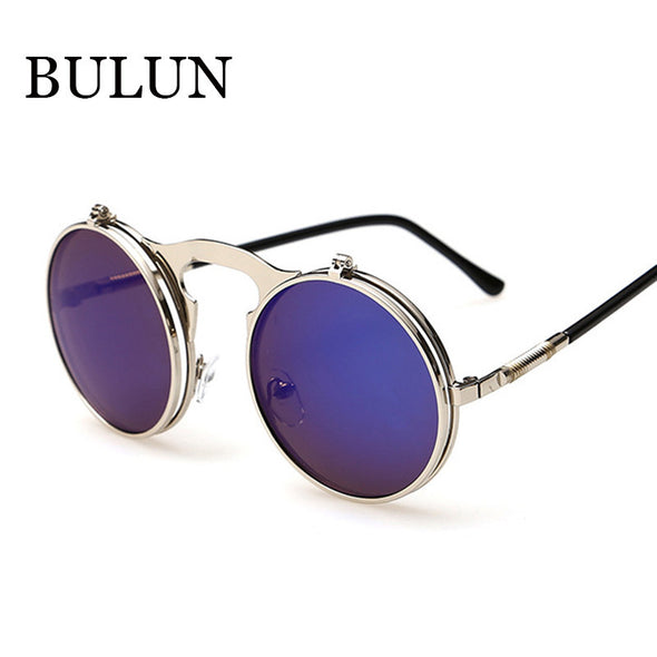 Retro Steampunk Round Sunglasses