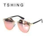 Rose Gold Vintage Sunglasses Mirror Eyewear