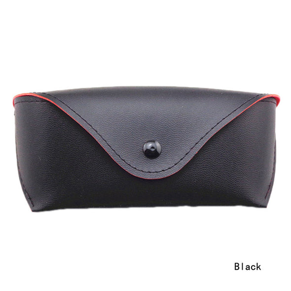 PU Leather Eyeglass Sunglasses Case Color Black