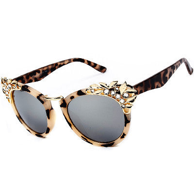 Metal  Flower Vintage Sunglasses - Hippie BLiss