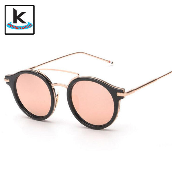 Black and Rose Round Sunglasses Women Round Vintage - Hippie BLiss