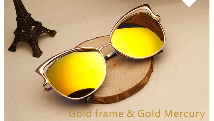 All Gold Sunglasses Cat Eye Sunglasses - Wayfarer Sunglasses - Hippie BLiss
