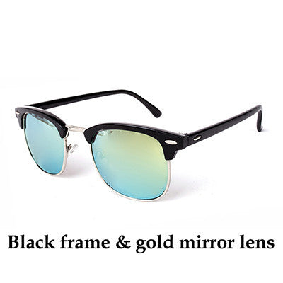Perfect Black And Gold Wayfarer Sunglasses