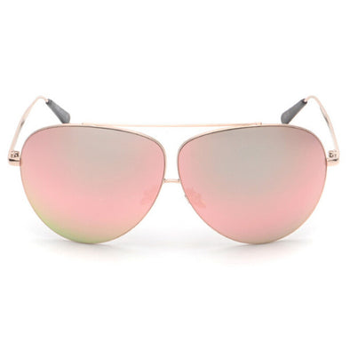 Aviator Sunglasses Metal Frame Oversized Reflective - Blue Pink Gray and Black Aviator Sunglasses - Hippie BLiss