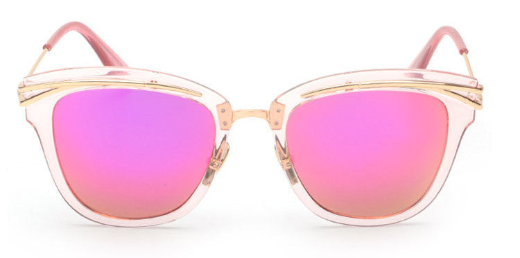 Black Rose Gold Cat Eye Aviator Sunglasses - Frame and Rose Gold Lenses Sunglasses - Hippie BLiss