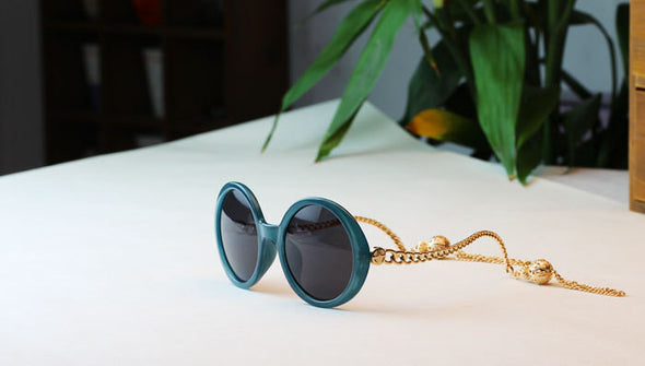 Retro Sunglasses frame new lady sunglasses Link Chain sunglasses