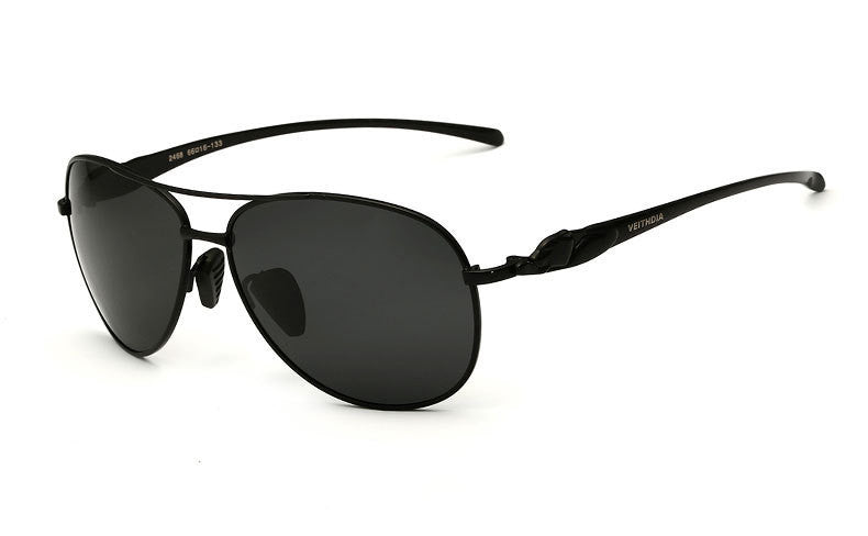 Men Black ad Sylver Aviator Sunglasses - Hippie BLiss
